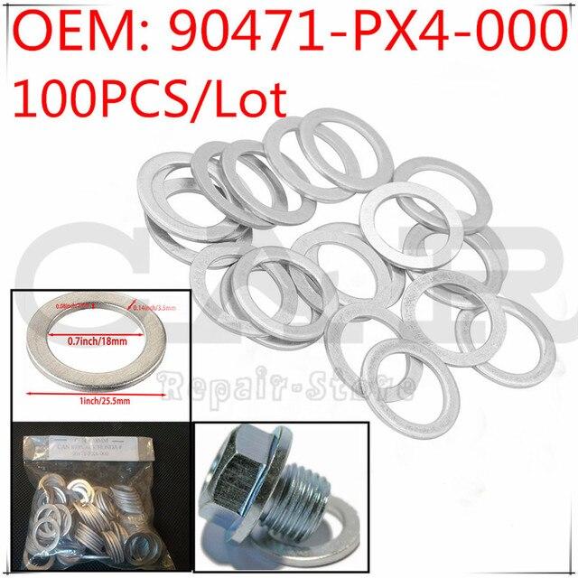 [100PCS] 90471 PX4 000 90471PX4000 Reparatur Kit Öl Ablauf Stecker Dichtungen für Honda Accord CR V Civic Odyssey für Acura MDX RDX TSX