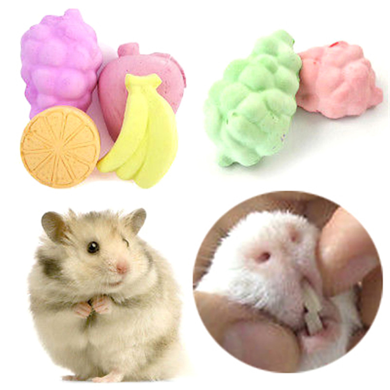 5pcs Pet Molar Stone Toys Mineral Teeth Grinding Stone Hamster My Neighbor Totoro Rabbit Dutch Rat Molar Stone Pet Products