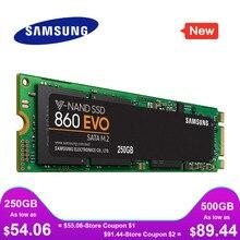 Samsung ssd m2 860 evo m.2 2280 sata 1tb 500gb 250gb disco rígido de estado sólido interno hdd m2 computador portátil desktop tlc pcle m.2