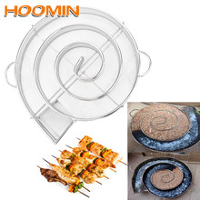 Hoomin frio fumante gerador de fumaça de madeira poeira chip quente caixa de fumar aço churrasqueira fumante salmão bacon peixe mini maçã madeira