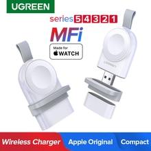 Ugreen Беспроводное зарядное устройство для Apple Watch зарядное устройство серии 5 4 3 2 1 портативное MFi USB зарядное устройство для Apple 3 Магнитная Беспроводная зарядка