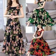 Женское модное летнее элегантное Платье с О-образным вырезом с коротким рукавом, свободное Платье с цветочным принтом размера плюс, Платье для платья@ py