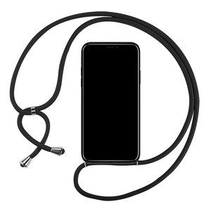 Мягкий термополиуретановый чехол, шнурок, ожерелье, плечевой шейный ремешок, шнур для huawei Honor 6X 5X GR5 GR3 P6 P7 P Smart Plus, чехол для телефона