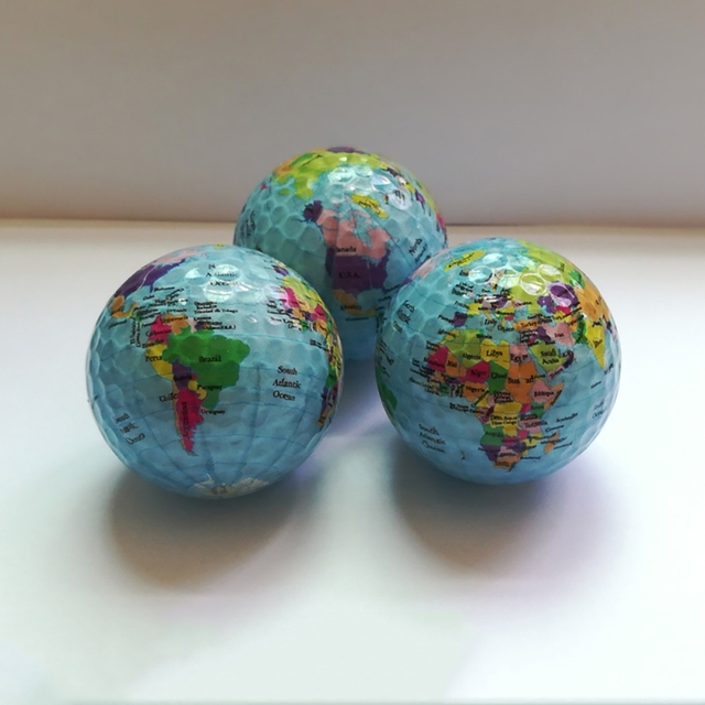 Globe Map Color Golf Balls Practice Golf Balls Golf Gift Balls K0B0