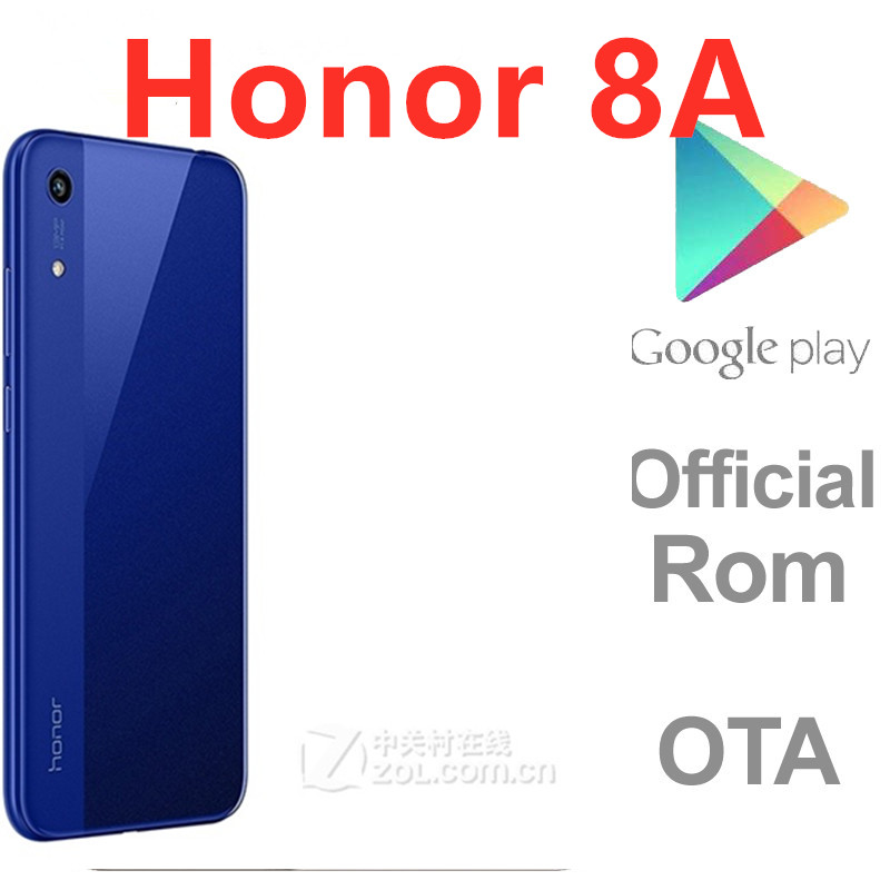 Сотовый телефон Honor 8A, Международная прошивка, 4G LTE, двойная камера 13 МП, MTK6765, GPS, сканер лица, экран 6,09 дюйма, 3 ГБ ОЗУ 64 Гб ПЗУ