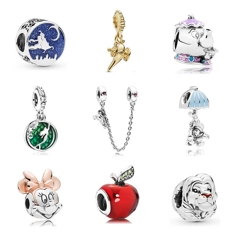 2019 New Original Alloy Bead Mickey Minnie Fairytale Dumbo Love Charm Fit Pandora Bracelet Bangle Necklace DIY Women Jewelry