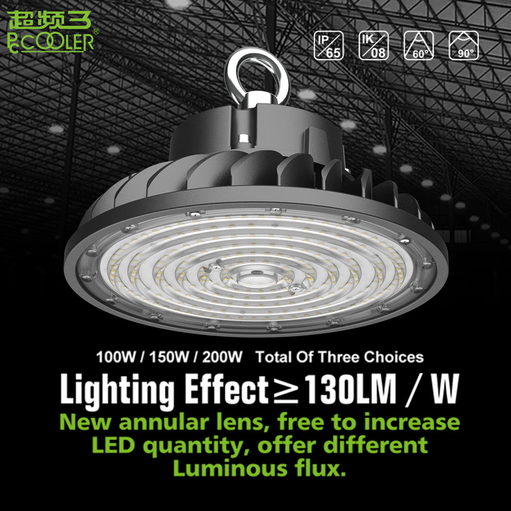 100-200W lampe LED industriel lumineux superbe IP65 imperméabilisent le montage de lumières de LED de 26000LM lampe pendante LED pour le Garage d'atelier
