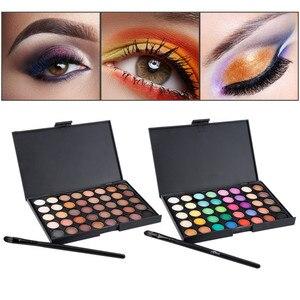 Waterproof Long Lasting Matte Eyeshadow Non-blooming Bright Neon Multi-Color Shimmer Charm Eye Makeup Palette Cosmetic Set TSLM2