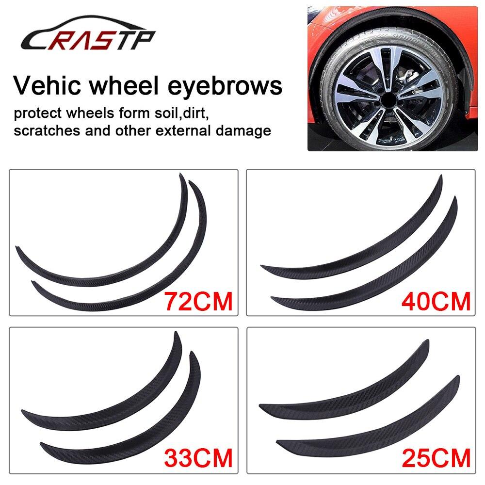 RASTP-Auto Styling Arch Rad Augenbrauen Flare Erweiterung Protector Lip Anti-Scratch Weichen Streifen Rad Lippe Fender Flares RS-LKT008