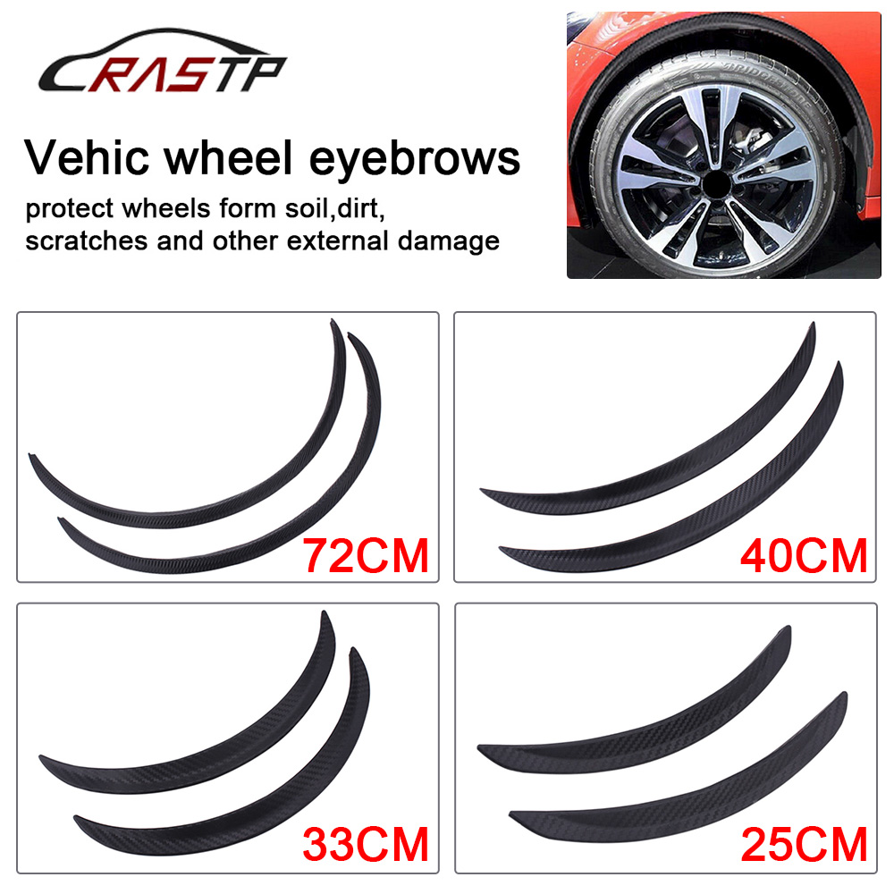 RASTP-Car Styling Arch Wheel Eyebrows Flare Extension Protector Lip Anti-Scratch Soft Strip Wheel Lip Fender Flares RS-LKT008