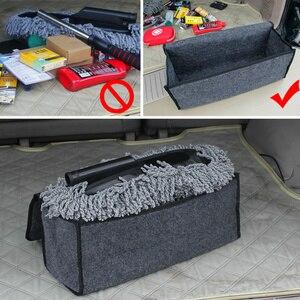 Image 3 - Car Trunk Organizer Soft Felt Storage Box Large Anti Slip Compartment Boot Storage Organizer Tool Bag Car Storage Bag