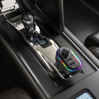 Zestaw samochodowy Bluetooth nadajnik modulator FM Audio muzyka odtwarzacz Mp3 telefon bezprzewodowy zestaw głośnomówiący Carkit 3 1A szybkie USB type-c ładowarka tanie i dobre opinie LUTU 100g Bluetooth hands-free calling 11 2*3 4*9 3(cmPackage included)