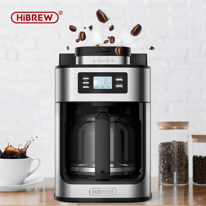 HiBREW automatic coffee machine All-in-one freshly brewed coffee maker grinding machine