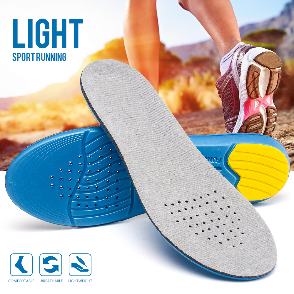 EVA Elastic Memory Foam Breathable Shoes Insoles For Men And Women Sports Function Insert Heel Cushions Shoe Pads