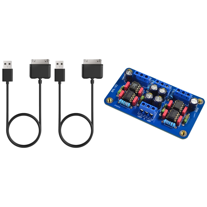 2 Pcs USB Charging Cable & 1 Pcs Balanced XLR Input To RCA Signal Output Preamplifier Circuit