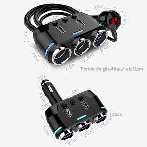Image 3 - 12V 24V 자동차 충전기 담배 라이터 소켓 분배기 자동 USB 충전 전화 DVR 카메라 12V 자동차 충전기 자동차 용품