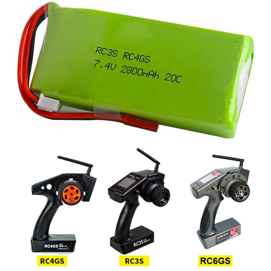 Radiolink RC3S RC4GS RC6GS Remote Controller <font><b>2S</b></font> 7.4V <font><b>2800mAh</b></font> 20C <font><b>Lipo</b></font> Battery with B3 charger image