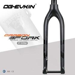 OG-EVKIN fk006 29er garfo de carbono rígido 27.5 bicicleta mtb garfo dianteiro garfo de carbono rígida eixo através de 15x100mm 27.5er garfos montanha