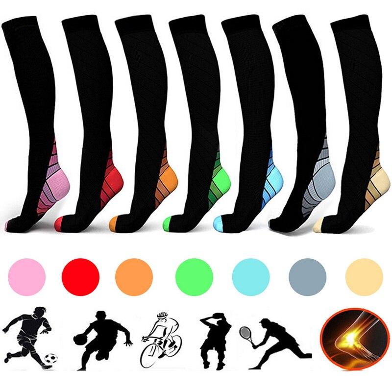 7 Styles Men Professional Compression Socks Breathable Travel Activities Fit For Nurses Shin Splints Flight Travel Socks