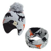 2020 шапка шарф комплект вязаная Детские Зимние Шапочки Наушники