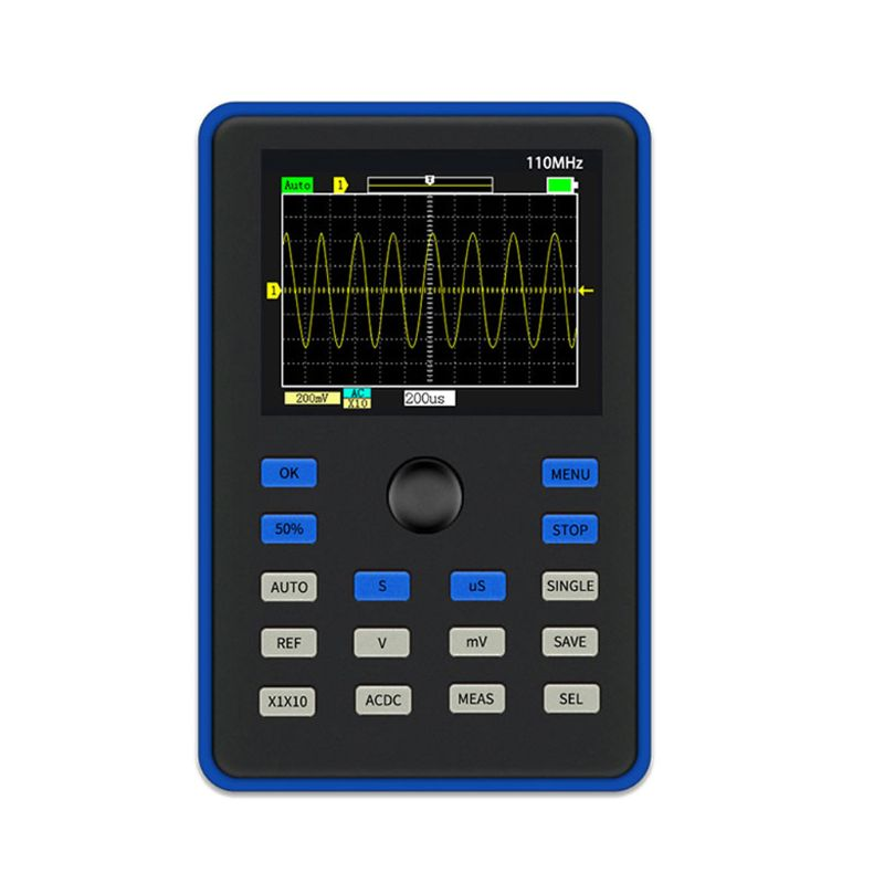 DSO1C15 2.4 Inch LCD Screen Handheld Digital Oscilloscope 500MS/s Rate 100MHz