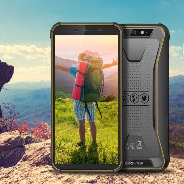 Blackview 2020 New BV5500 Plus Android 10.0 3GB+32GB IP68 Waterproof Rugged Smartphone 5.5'' Full Screen 4400mAh 4G Mobile Phone 5
