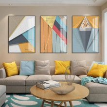 Abstract Geometric Crystal painting Canvas Modernist Art Wall Picture for Poster Home Decoration Wall Painting Decorative dancing butterfly abstract canvas painting wall art poster and print scandinavian decorative picture modern home decoration