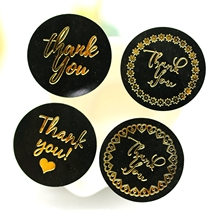 Черный золотой Спасибо наклейки, подарочные бумажные этикетки наклейки, декоративные этикетки упаковочные наклейки, наклейки для конвертов 120 шт/партия