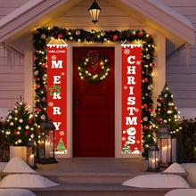 QIFU Porch Sign Merry Christmas Decorations For Home Outdoor Decoration Door Banner Wall Hangings Xmas Decor