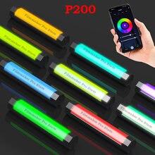 LUXCEO P200 PavoTube – bâton lumineux RGB, étanche, lumière de vidéo LED, éclairage doux, télécommande pour téléphone Portable, application 6C
