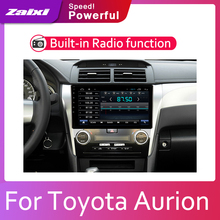ZaiXi Android 2 Din Car radio Multimedia Video Player auto Stereo GPS MAP For Toyota Aurion 2011~2017 Media Navi Navigation цена