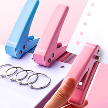 Metal Single Hole Punch School Paper Cutter Loose-Leaf Punches Scrapbooking Puncher DIY Binder Tools Office Binding Stationery metal single hole punch school paper cutter diy loose leaf hole puncher scrapbooking tools office binding stationery