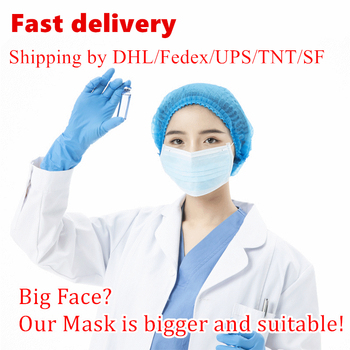 50pcs/pack sterile Masks by fast delivery anti-virus disposable protective cover masks with nowoven anti-foam masks