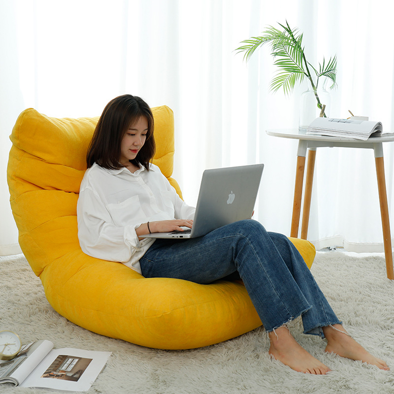 Lazy Sofa Cover Bean Bag Living Room Tatami Relaxing Chair Couch Cover Lazy Beanbag Without Inner Filler 1