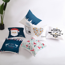 Christmas Pillowcases Soft Sofa Bed Car Decor Throw Cushion Cover 45*45 for Home Living Room Decoration