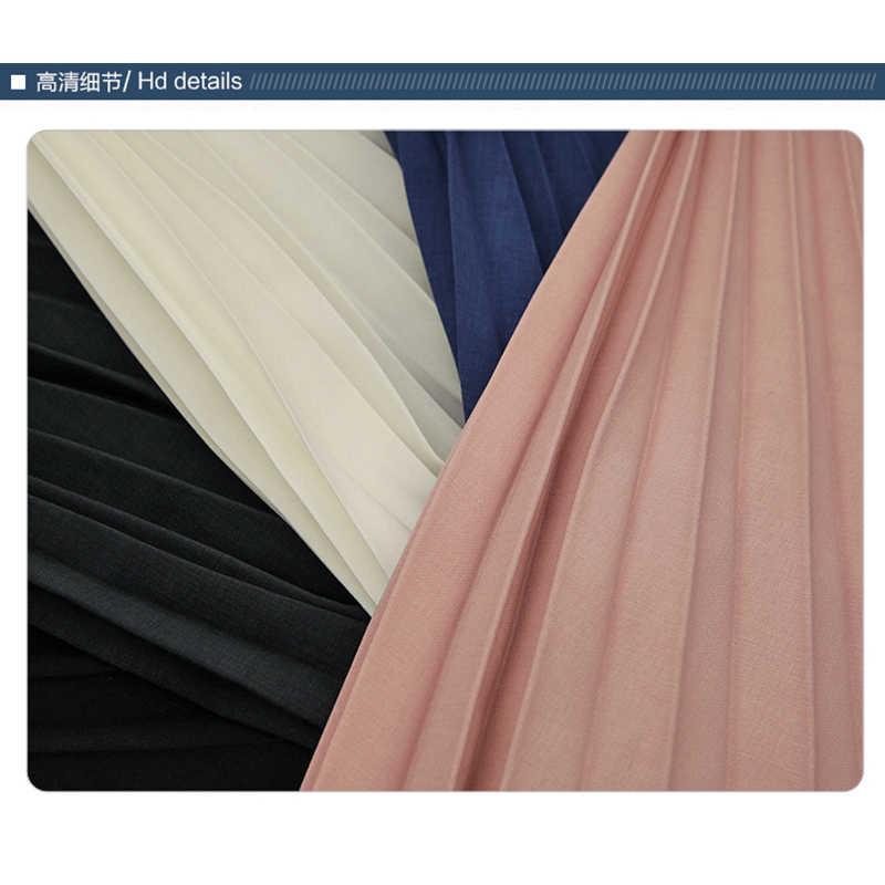 אביב/קיץ 2019 משאלה מפורשת אירופאי ואמריקאי נשים של ארוך שיפון חצאית מציג הרזיה קפלים חצאית