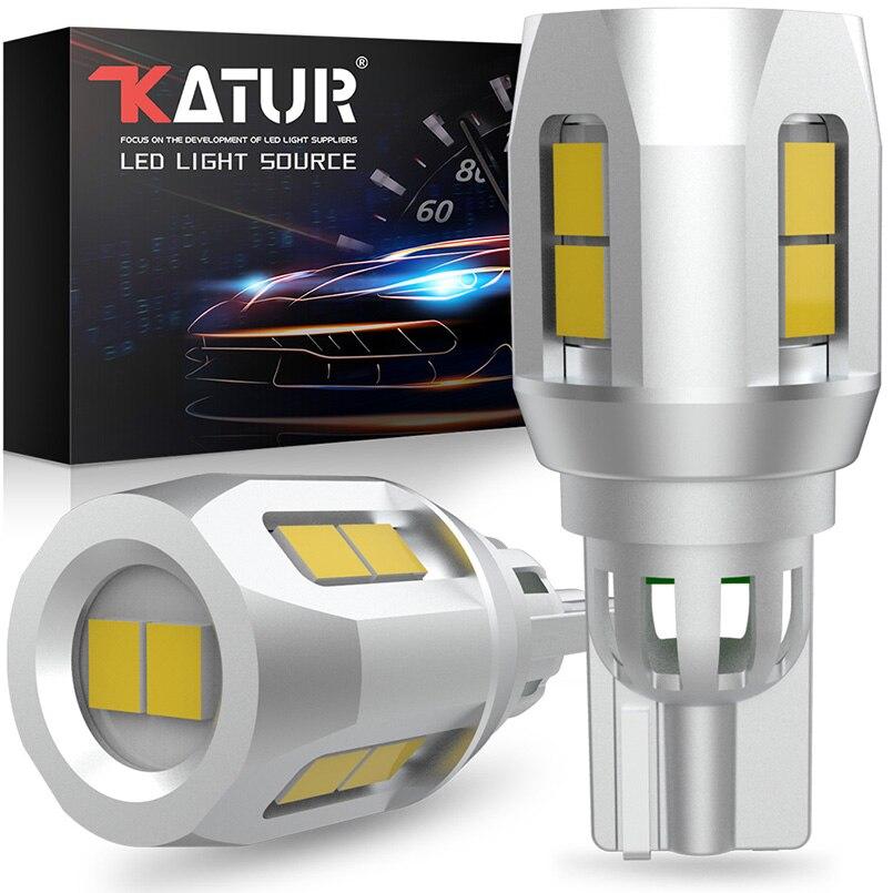 2pcs Canbus W16W T15 T16 LED Bulbs 912 921 Super bright LED Car Backup Reverse lights Tail Lamps 10SMD 2835 Xenon White 12V