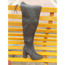 women snow Long woman Overknee Low Small Elastic boots Womens shoes