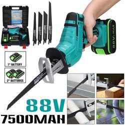 88V Cordless Lithium Batterie Säbelsäge Holz/Metall Schneiden Saw Saber Sah Tragbare Elektrische Säge Wiederaufladbare Power Tool