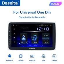 """Dasaita 10.2 """"IPS ekran 1 Din Android 10 evrensel araba radyo multimedya oynatıcı Nissan Toyota DSP Carplay 1280*720 kafa ünitesi"""