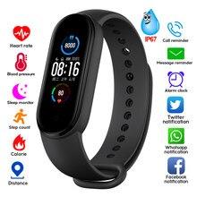 M4 m5 banda inteligente rastreador de fitness relógio inteligente smartwatch pulseira freqüência cardíaca pressão arterial monitor smartband saúde