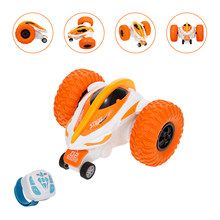 RC Car 2.4G Stunt Drift Deformation Buggy Car Rock Crawler Roll Car 360 Degree Flip Kids RC Cars Toys(China)