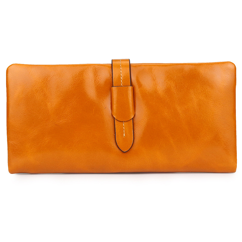Women's Long Wallet Leather New Handbags Fashion Simple Hand Clutch