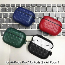AirPods Pro Leather Case, Sheepskin Genuine AirPod case with Keychain for 2 Case & Airpods 1, Wireless Cha