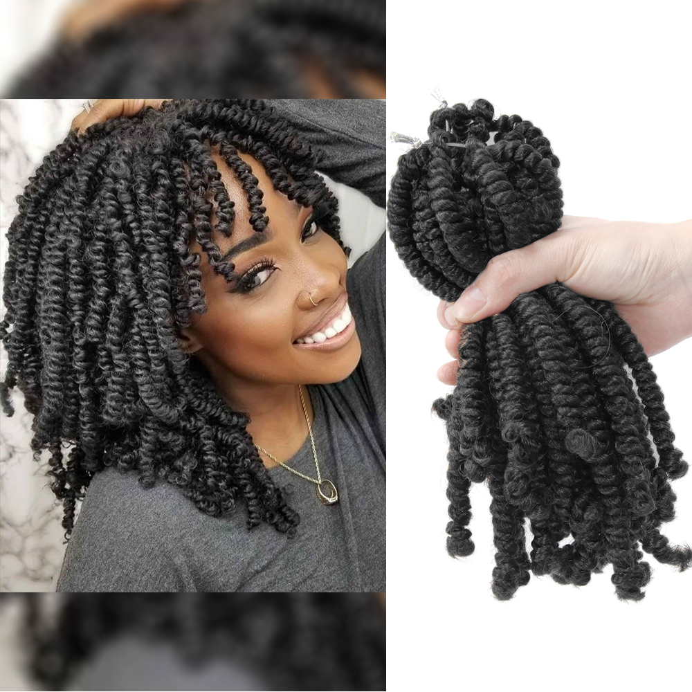 Ombre twist Hair Crochet braids  Passion Twist hair 8 inch  20Roots Black Red Color Synthetic Braiding spring twist Hair