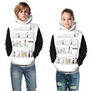 Image 5 - Толстовка Alien Rockets для мальчиков и девочек 10 12 лет, Детская толстовка с 3D принтом, Подростковая Спортивная одежда на весну и осень, детская одежда