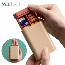 7 Days Medicine Pill Box Travel Portable Pill Case Organizer Medicine Drug Tablet Dispenser Storage Box Sealed Pill Container