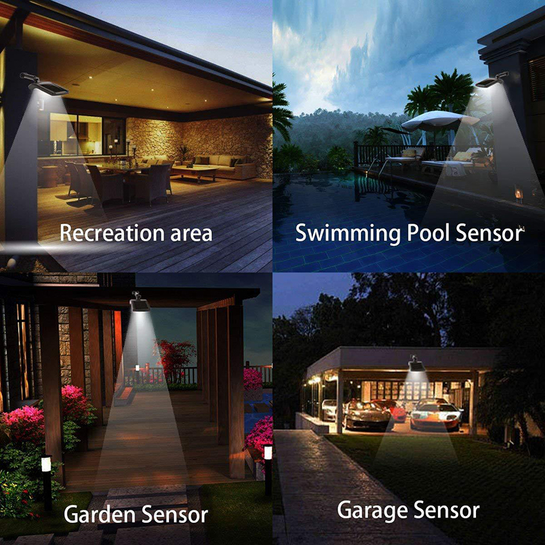 Outdoor Solar Wall Light with 180 Degree Rotating Struts in 3 Sensor modes for Stair and Garden Pathway 14