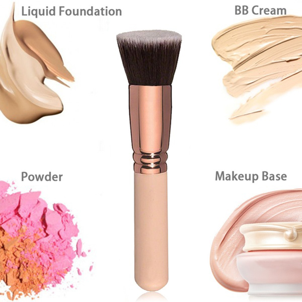 Makeup Brush Cosmetic Brushes Kabuki Face Nose Powder Makeup Brush Cheek Contour Blusher Brush Foundation Tool