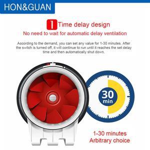 Image 3 - 6 Ultra Silent Ventilator Smart Inline Duct Fan 220V with Humidistat Timer Bathroom Ventilation Fans with Sensor Controller